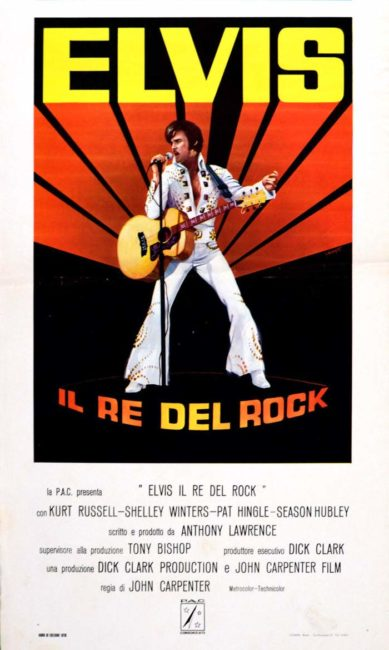 Elvis il re del rock di John Carpenter, locandina italiana del film
