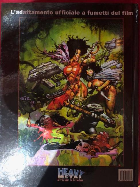 Heavy Metal FAKK2 l'adattamento a fumetti del film (retro copertina)