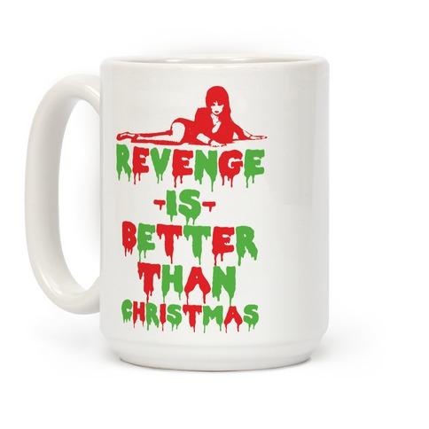 Tazza di Elvira con scritta la vendetta è meglio del Natale