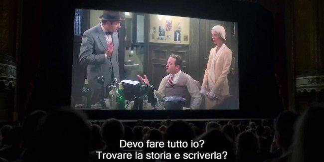 Scena della proiezione di Prima pagina, nel film Dolemite is my name