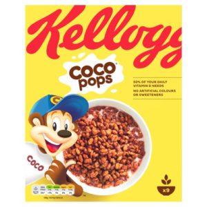 Confezione dei Coco Pops, cereali della Kellogs