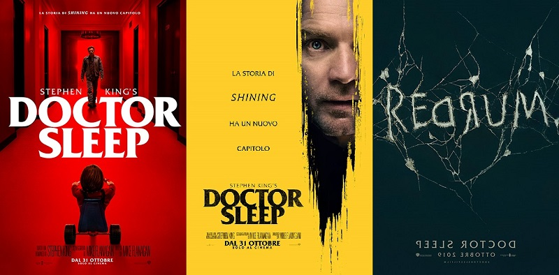 Tre locandine italiane del film Doctor Sleep del 2019