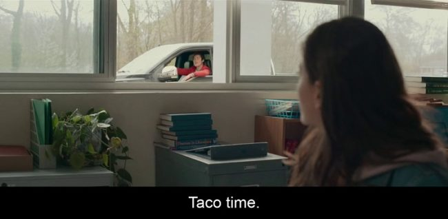 Tesoro? Taco Time. Un dialogo dal primo doppiaggio del film L'altra metà, 2020, Netflix
