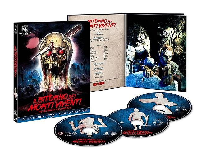 Blu-Ray di Il ritorno dei morti viventi, edizione limitata della Midnight Factory
