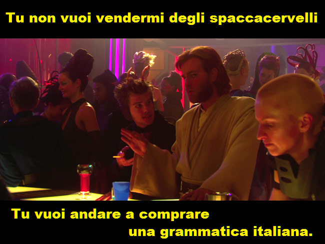 Spaccacervelli tradotto da Death Sticks nel film Star Wars Episodio II l'attacco dei cloni