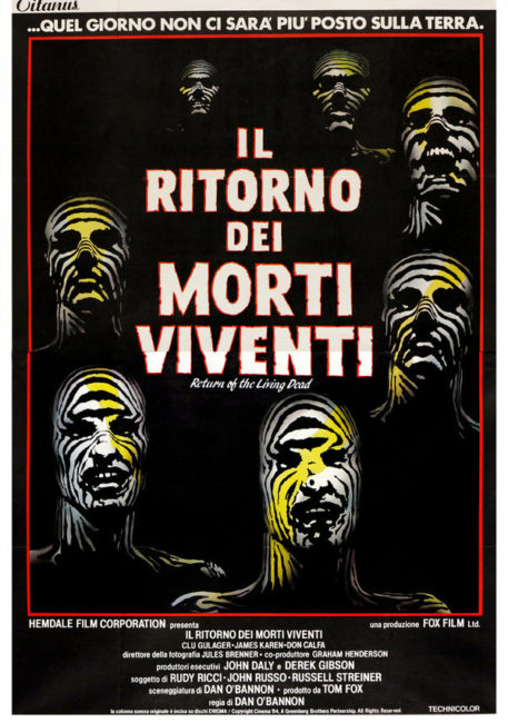 Locandina italiana del film Il ritorno dei morti viventi 1985