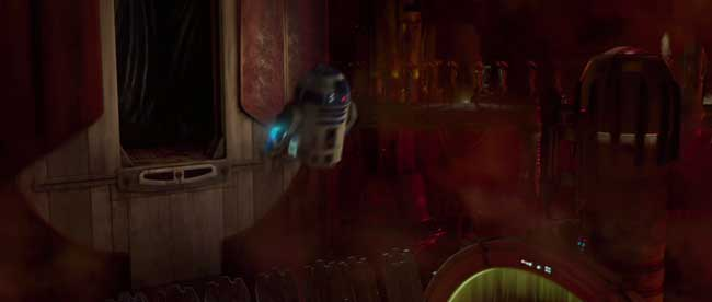 R2D2 che vola a razzo in Star Wars Episodio II l'attacco dei cloni