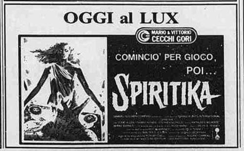 Flano di giornale per il film Spiritika