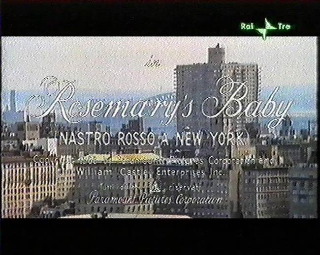 Titoli di inizio di Rosemary's Baby da trasmissione televisiva