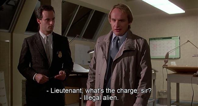 battuta dell'alieno non autorizzato nel doppiaggio italiano di Howard e il destino del mondo