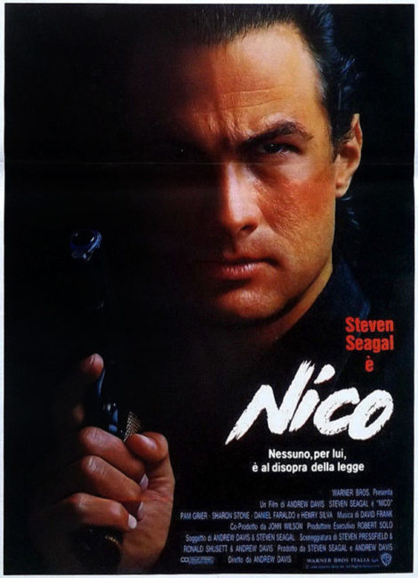 locandina italiana di Nico con Steven Seagal