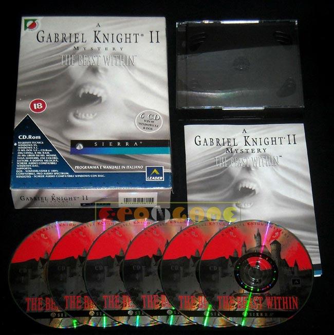 Gabriel Knight 2 gioco per PC con scatola in italiano