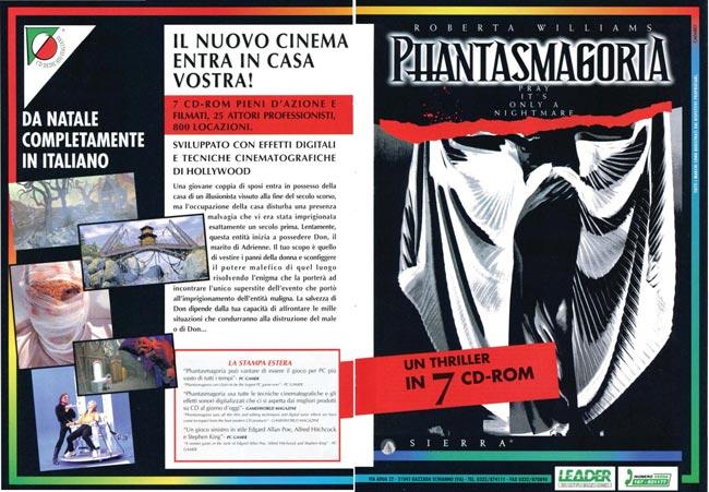 Pubblicità del gioco Phantasmagoria doppiato in italiano in uscita nel dicembre 1995