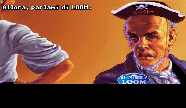 Parlami di Loom. Schermata dal gioco Il segreto di Monkey Island