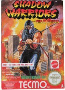 Copertina italiana di Shadow Warriors gioco per NES Nintendo, in America noto come Ninja Gaiden