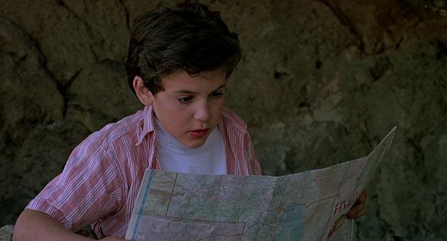 Scena dal film Il piccolo grande mago dei videogames dove Goblin Valley diventa Valle dei Fantasmi nel primo doppiaggio