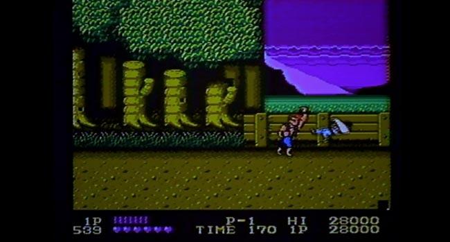 Double Dragon schermata di gioco dal film Il piccolo grande mago dei videogames in cui lo chiamano Doppio Dragone