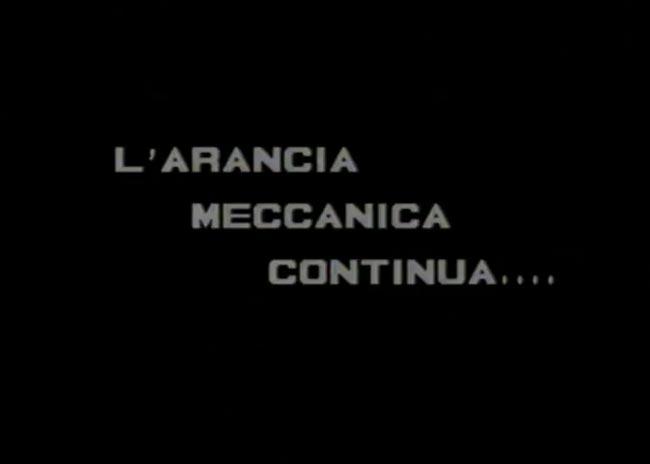 L'arancia meccanica continua, titolo italiano da VHS