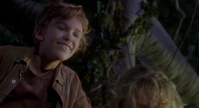 Timmy che dice Dio ti benedica nel doppiaggio italiano di Jurassic Park