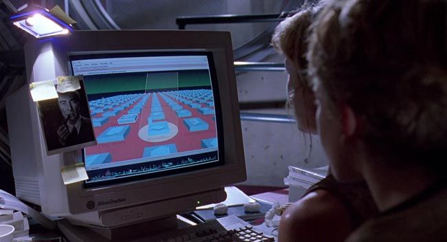 sistema unix in Jurassic Park
