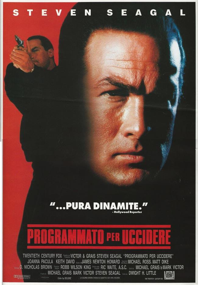 Locandina italiana di Programmato per uccidere (1990) con Steven Seagal