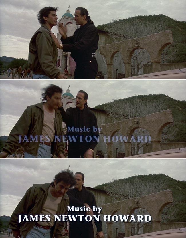 Scene iniziali di Steven Seagal che prende a schiaffi il collega in Programmato per uccidere