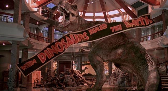 t-rex nel finale di Jurassic Park