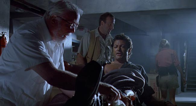 Scena di Jurassic park in cui Malcom parla del villaggio dei caraibi nel doppiaggio italiano