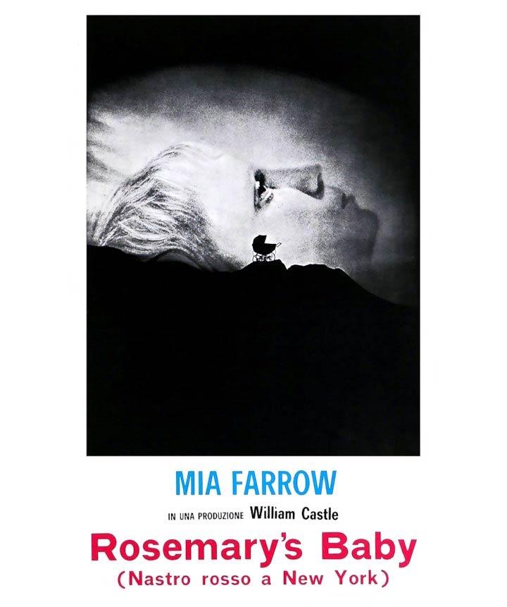 Rosemary's Baby locandina italiana con sottotitolo Nastro rosso a New York