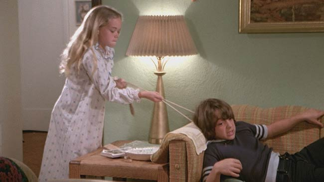 Scena dal film Compleanno in casa Farrow