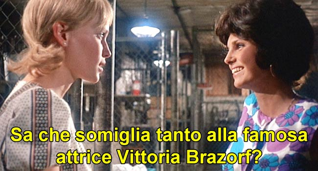 Victoria Vetri, chiamata Vittoria West nel doppiaggio italiano di Rosemary's Baby